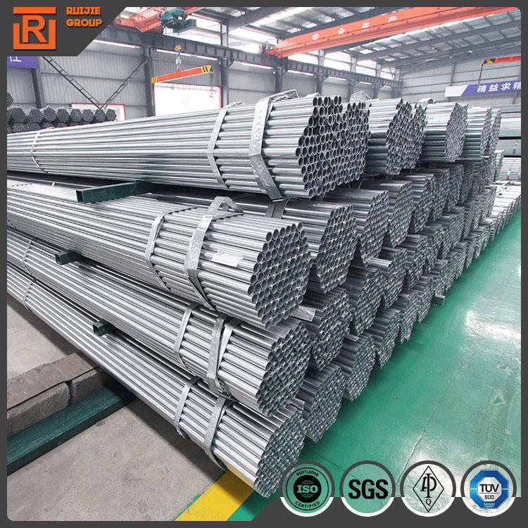 Mild carbon welded steel round pipe, ms round pre galvanised plumbing hollow section