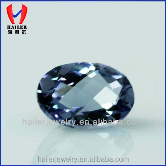 Synthetic Corundum Stone Oval Cut Lab Alexandrite Stones For Sale