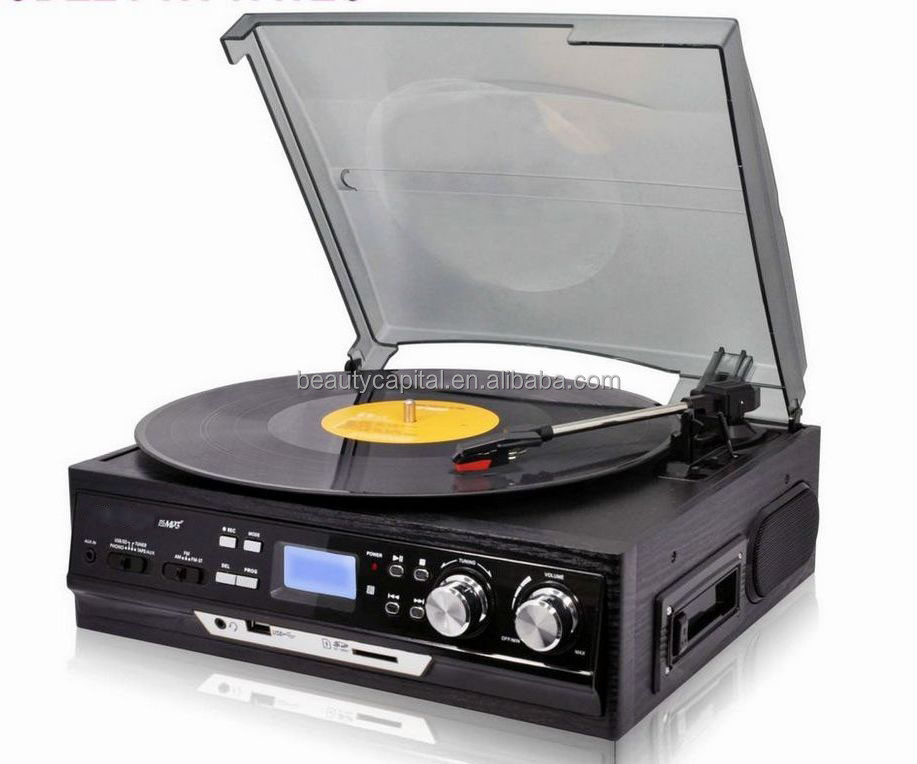 Competitive price LCD turntable jukebox cd player from China