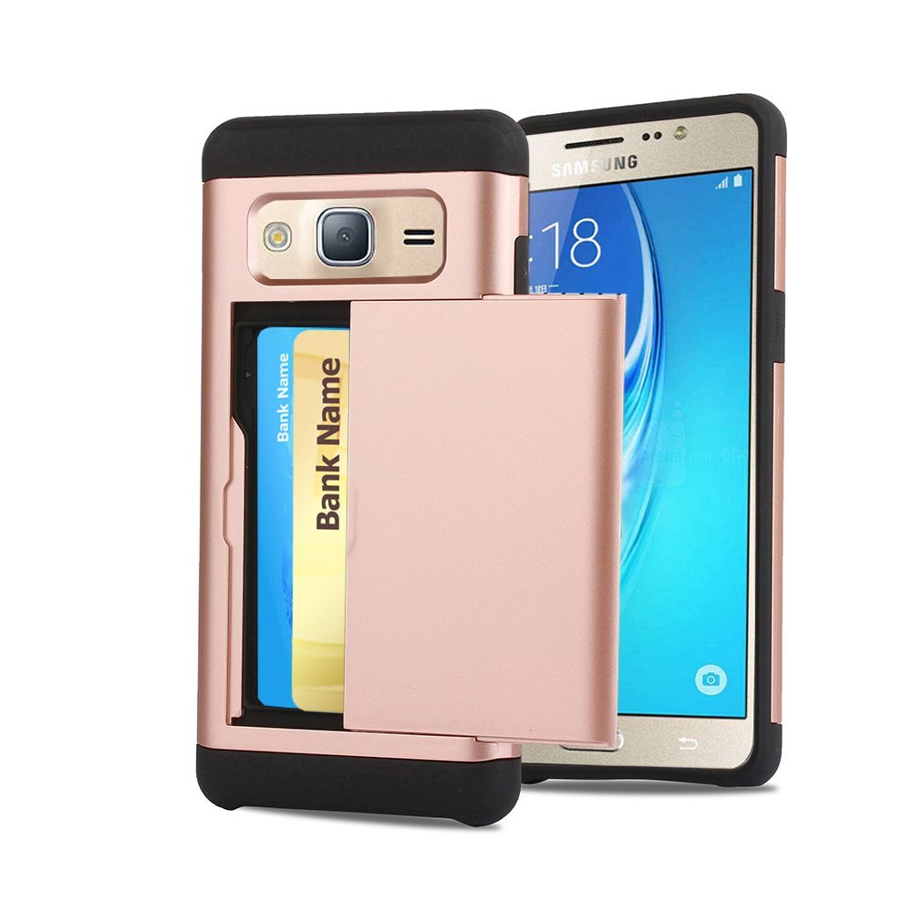 size 40 c4114 11b34 Buy Galaxy J3 Case, CaseTop [Easy 2 Card Access] Sliding Back Door ...