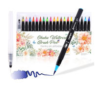 Watercolor Brush Markers Pen Ohuhu 20 Colors Water Based Drawing Marker Brushes Water Coloring Brush