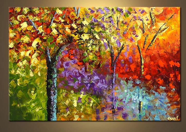 Caliente Venta Pintura Lienzo Pintado A Mano Arte De La