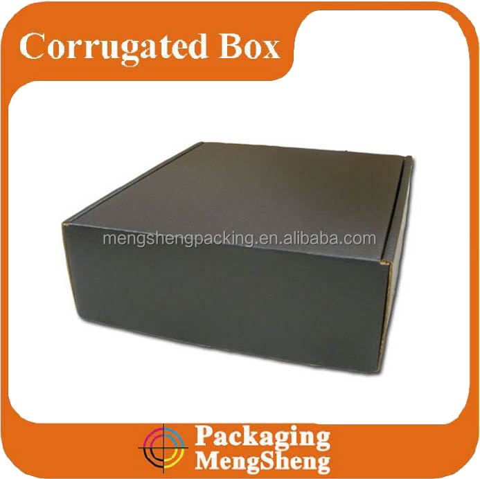 Custom matte black cardboard foldable packaging shipping boxes