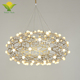 Factory Price Hotel Luxury Design Led Chandelier Wood Pendant Lamp