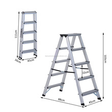 Aluminium Double Sided Step Ladder Folding A Type Household Stepper 5 Steps