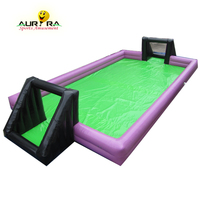 Factory price inflatable football field inflatable soap soccer field soap football field inflatable soccer pitch on sale