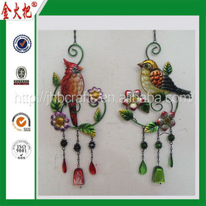 2014 Hot Selling Custom metal bird door colorful hanging decoration