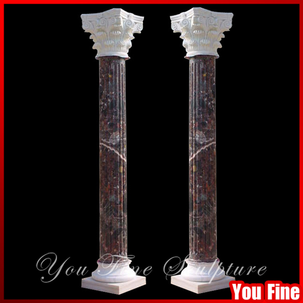 Natural Stone Pillars Caps : Stone column caps hollow roman pillar natural