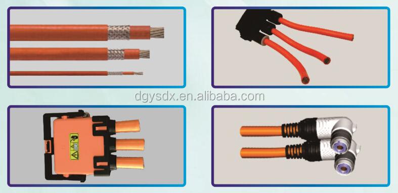1500V EV high voltage internal wiring for electric vehicle battery, on