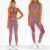 Custom Wholesale 2 Piece Set Sports Bra Seamless And High Waisted Leggings