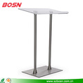 Clear top surface with steel poles acrylic lectern for sale