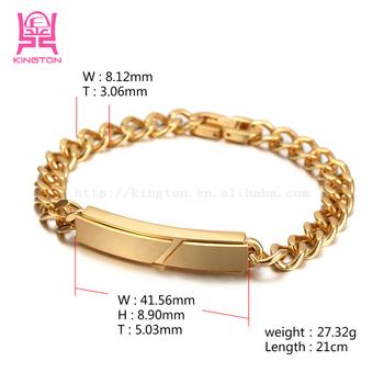 ce4eb83ebda Fashion 316l Stainless Steel Cuban Curb Link Chain Men's Bracelets Gold  Bracelet Designs Men