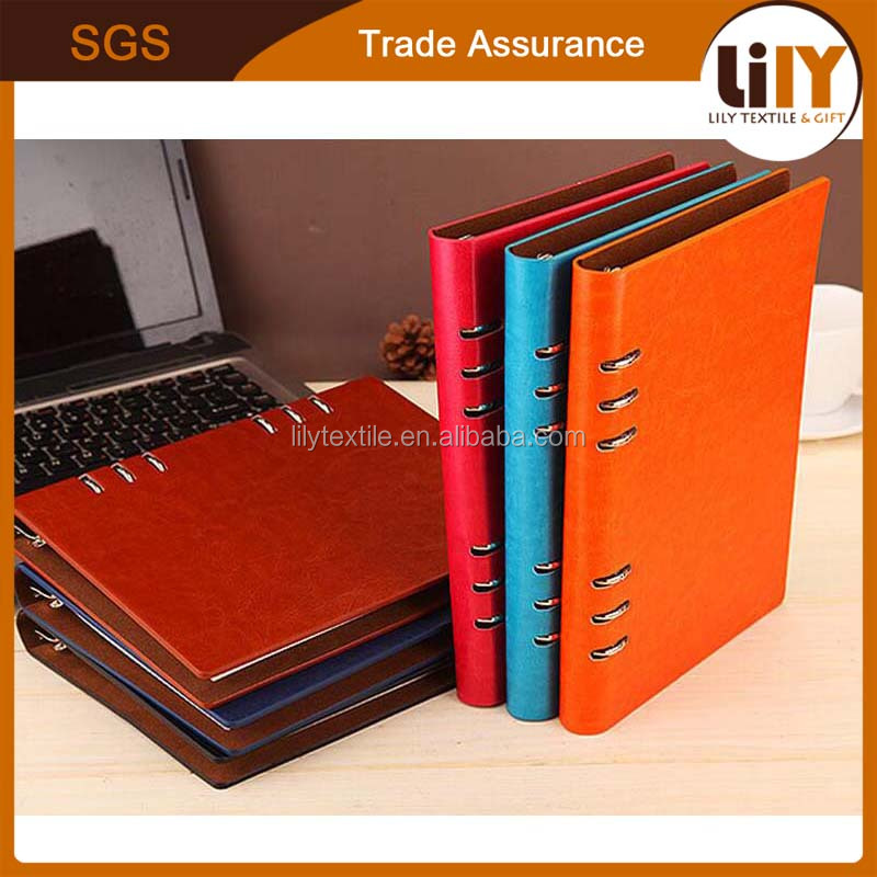2017 new custom promotional a5 pu leather notebook with refill paper