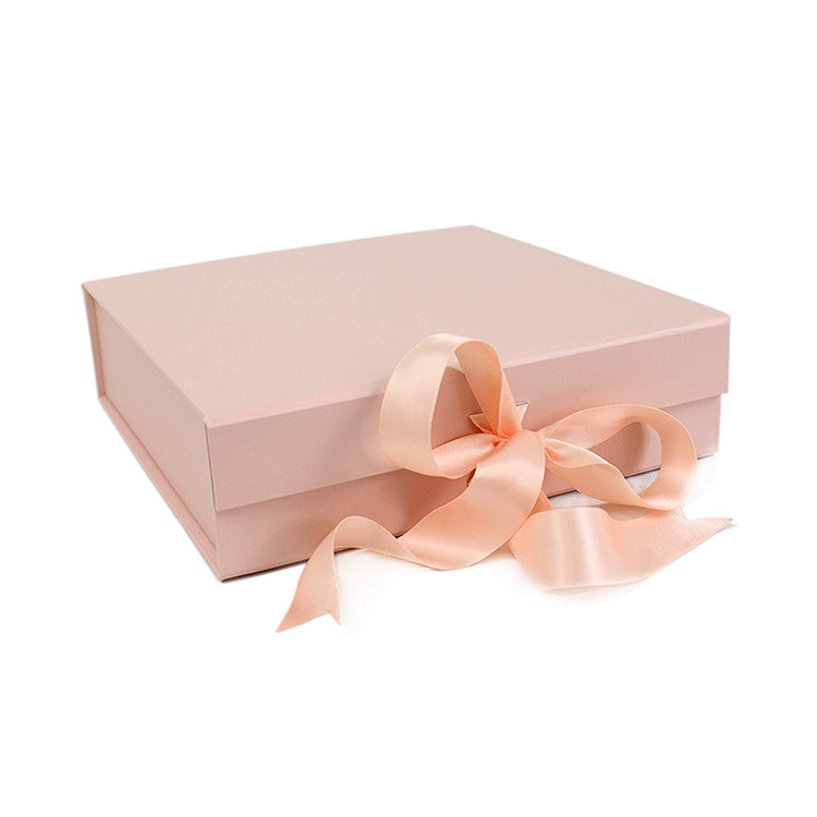Custrom Logo Luxury Folding Gift Box Ribbon Magnetic Closure A Gift Box With Ribbon