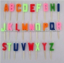 Birthday Alphabet Letters Candles, Birthday Alphabet Letters