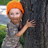 W-162 top trendy knit crocheted beard hats for the whole family