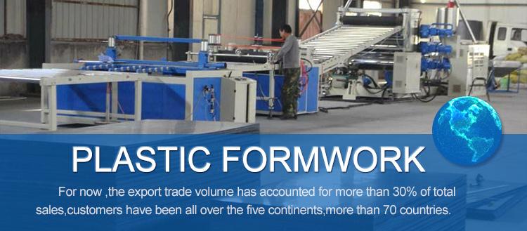 Composite Plastic Formwork Panel For Concrete Precast