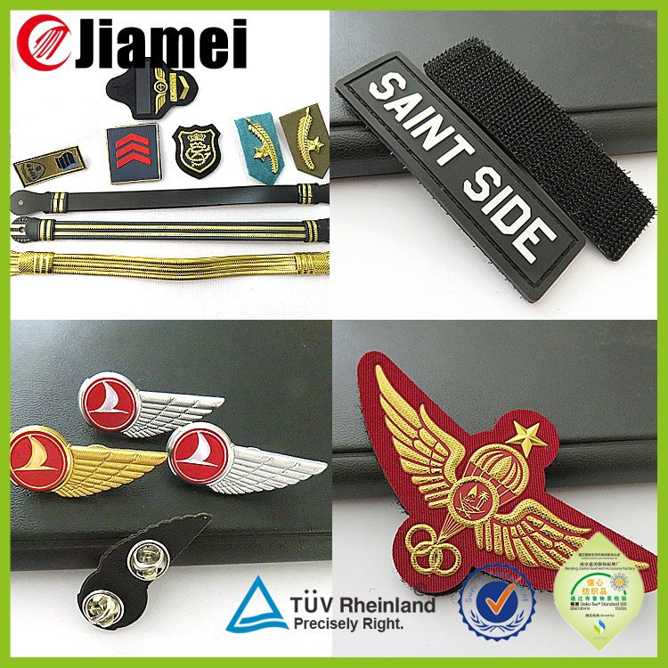 Uniform Accessory Supplier Custom Safety Pin Wing Shape Pilot ...