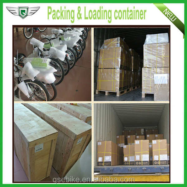 packing & loading cotainer two wheel electric scooter