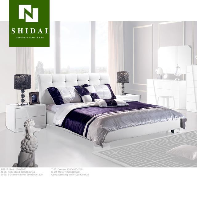 White modern platform bed White Leather Piece Queen Size White Modern Platform Bed Room Furniture Bedroom Set Alibaba New Piece Queen Size White Modern Platform Bed Room Furniture