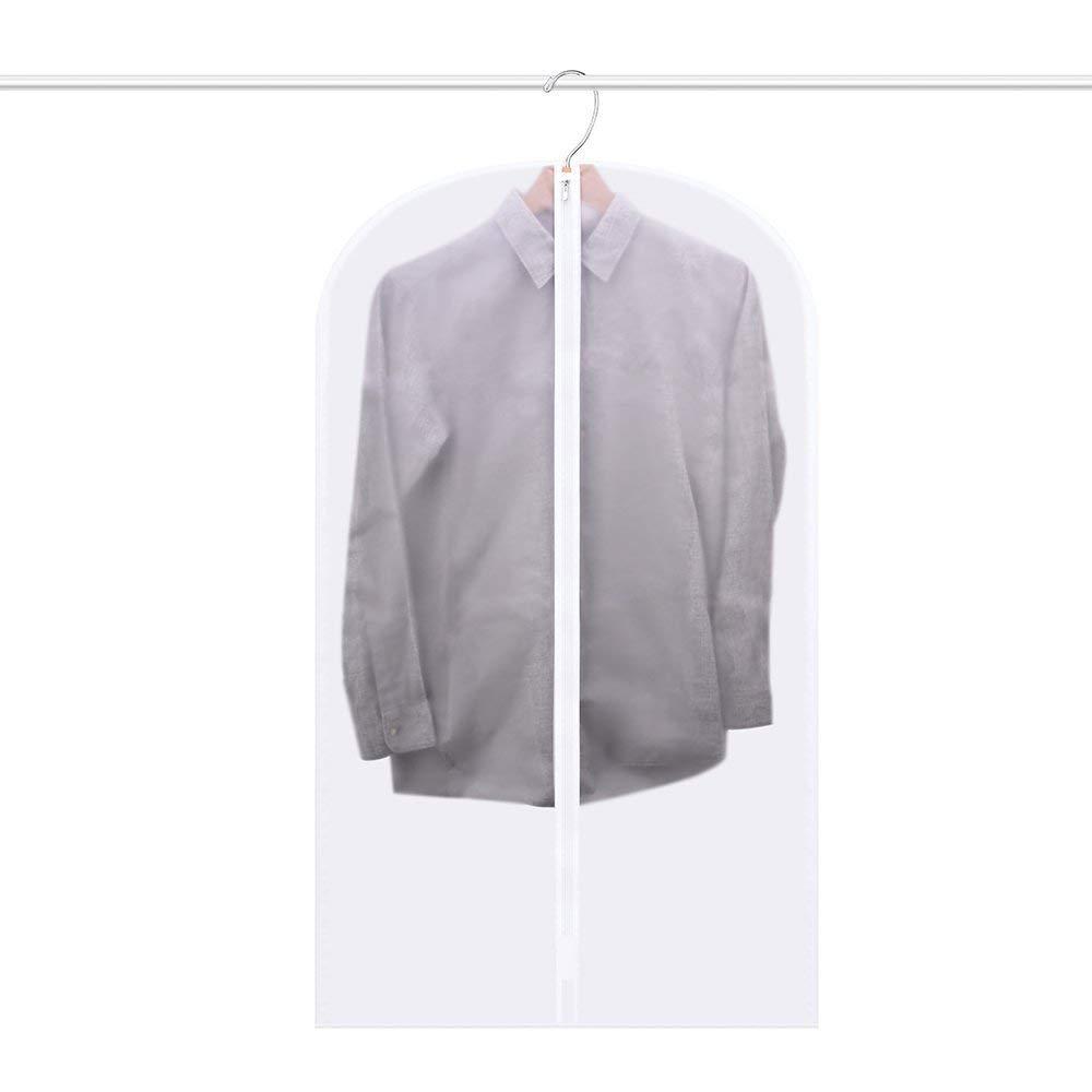 BravoTeam Garment Bag Clear 24x41inch Dust Bags Cover Moth Proof Bag Dress Suit Coat Bag for Clothes Storage Suits Shirt Coats
