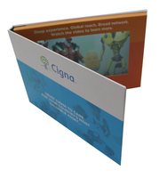 Etindge Customized High Quality 7 Inch Hardcover Video Brochure Card