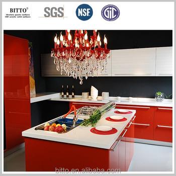 Kitchen Super White Quartz Countertop