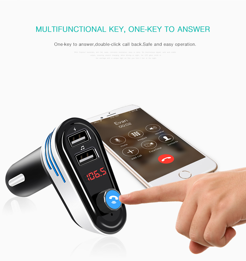 GXYKIT New product AP02 dual usb charger Bluetooth handsfree car mp3 player car fm transmitter aux