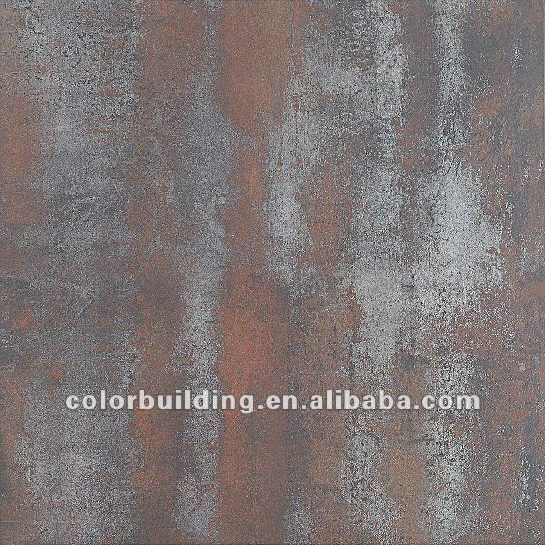 Red Rust Metal Look Tile Accent Tile Decorative Metal Tile 600x600mm