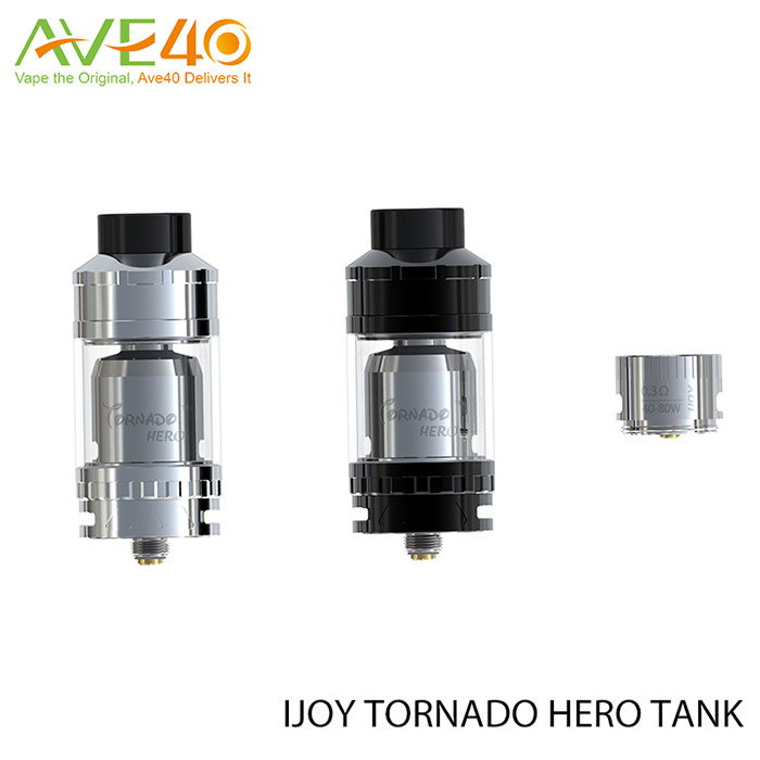 Original IJOY Tornado Hero RTA & Sub Ohm Tank from AVE40 IJOY Tornado Hero RTA