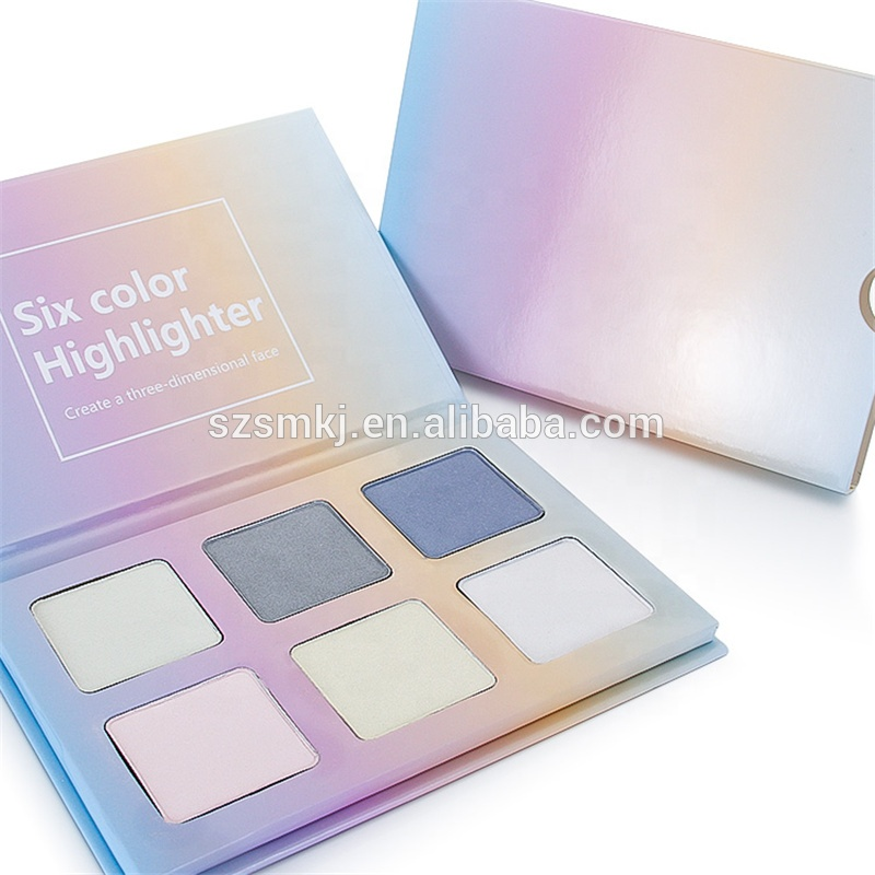 Bronzer Palette 6 สีแต่งหน้า Shimmer Powder Highlight Glow Kit