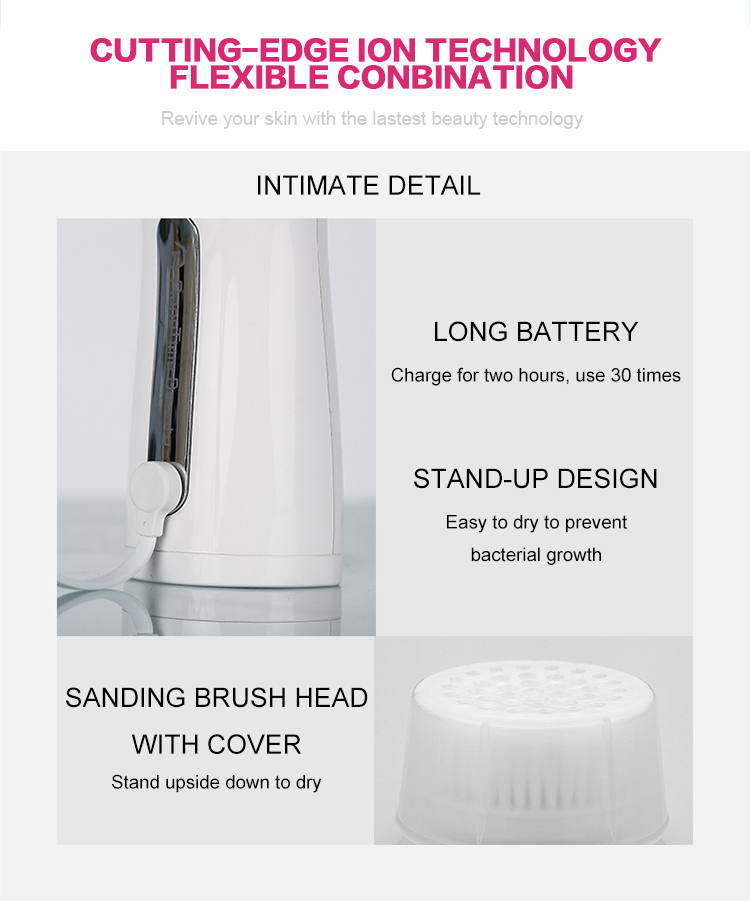 Simple design rotating face cleanser wash foam with brush best electric scrubber sonic shower for acrylic painting