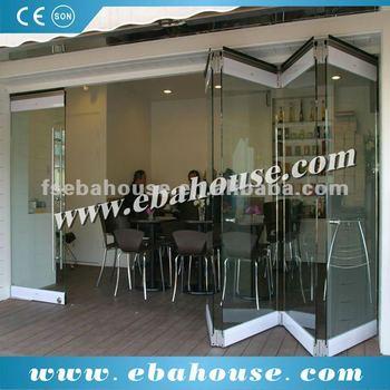 Frameless Glass Folding Door Commercial Entry Door Sliding Door