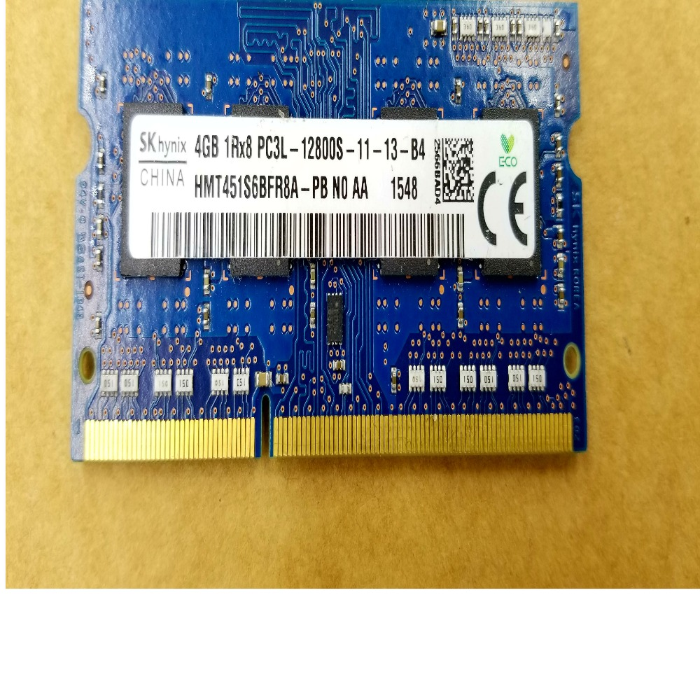 laptop ram memory 4GB 1Rx8 PC3L 12800