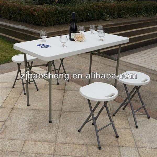 屋内と屋外安い 4 フィート白長方形プラスチック小さな折りたたみテーブル