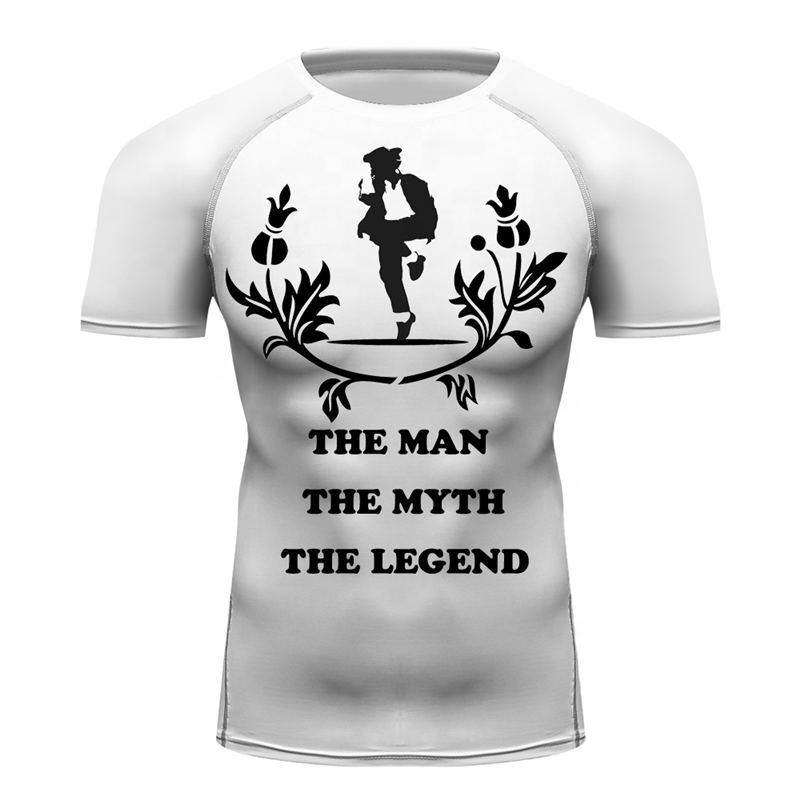 Men Gym Fitness Print T-shirt Custom Made Jackson The Man The Myth The  Legend Quotes Text Tees Men Slim Fit Jiu Jitsu Rash Guard - Buy Jiu Jitsu  Rash
