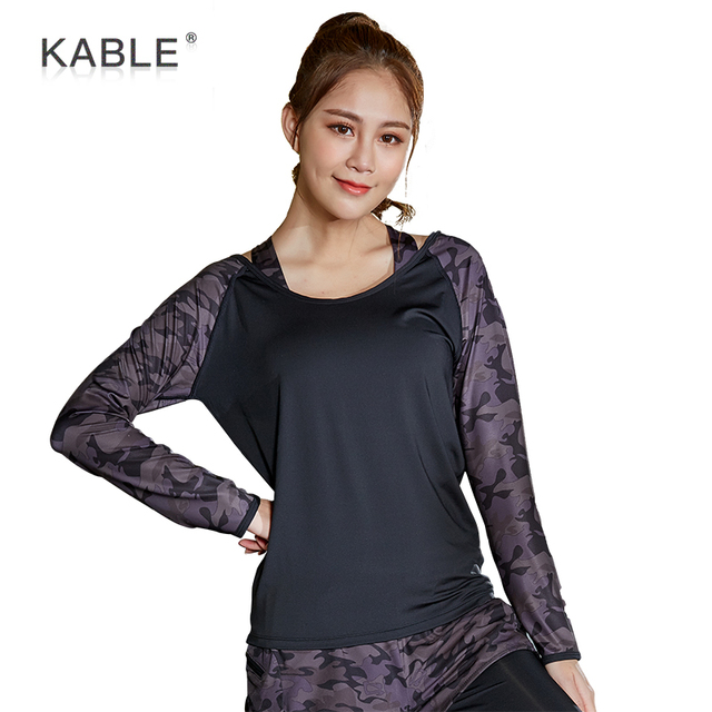 New design fitness women yoga wear High Quality long sleeve sports shirt