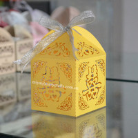 wedding favours laser cut chinese ,laser cut double happiness favor boxes