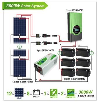 2kw 3kw 5kw 10kw 15kw 20kw Hybrid Solar System With Hybrid