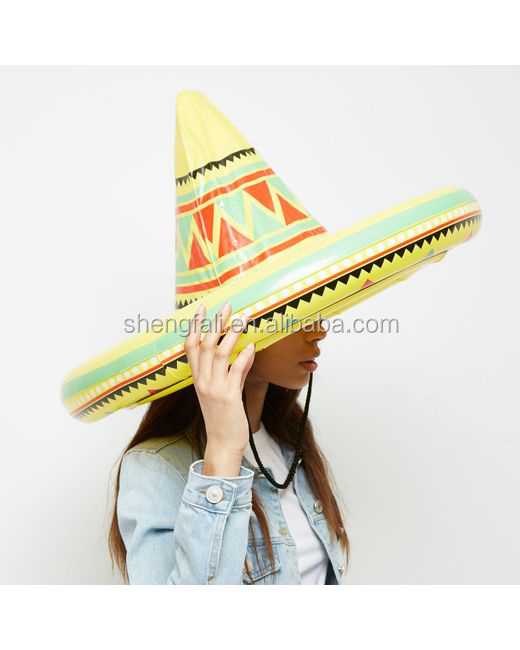 Giant Yellow Pvc Inflatable Sombrero Hat For Party - Buy Cowboy ... 6f6c8ecb1fe3