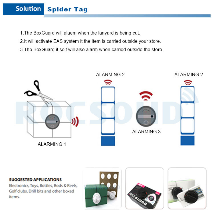 Sw001 China Manufacturer Spider Tags With Net,Security Spider Wrap ...