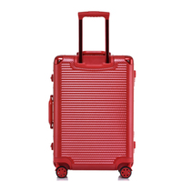 Woven pattern business PC aluminum frame tie rod box universal wheel scratch resistant wear - resistant 20-24-29 - inch suitcase
