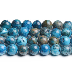 CB43752 Dyed Crazy Lace Agate Round Beads