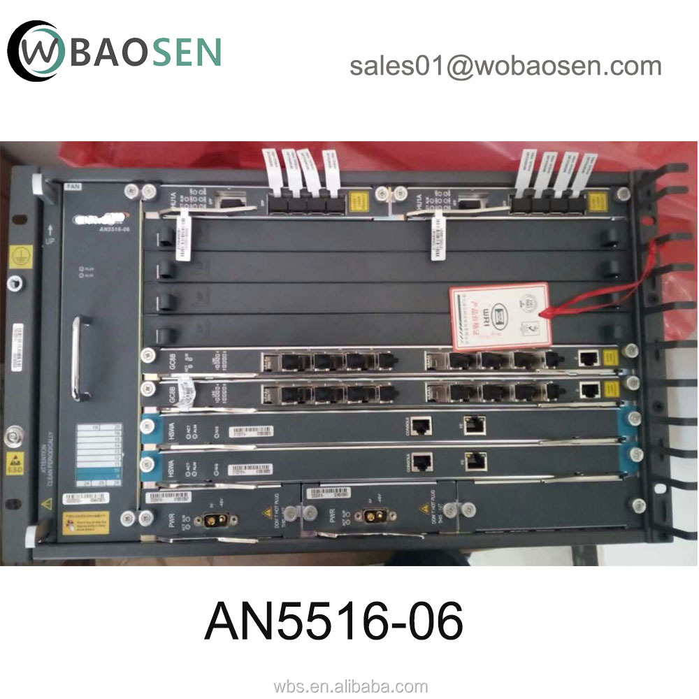 Original AN5516-06b GPON OLT equipment with one 8 port GPON board GC8B and EC8B Optical Line Terminal
