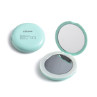Folding Luminous Makeup Mirror with LED High Definition Enlarged Double Face Beauty Dressing Pocket Mirror