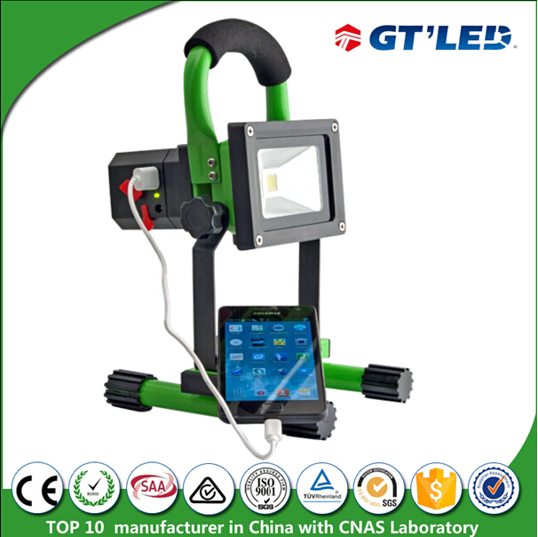 Rechargeable LED Flood Lighting Portable LED worklight 10w 20w 30w with 12V 24V 100-240V Charger
