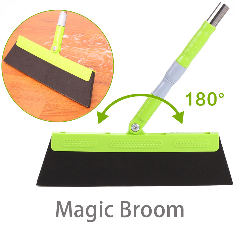 Magic Broom Sweep Dust Hair Bathroom Wiper Broom Rotate