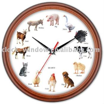 Animal Sound Talking The Time Clock