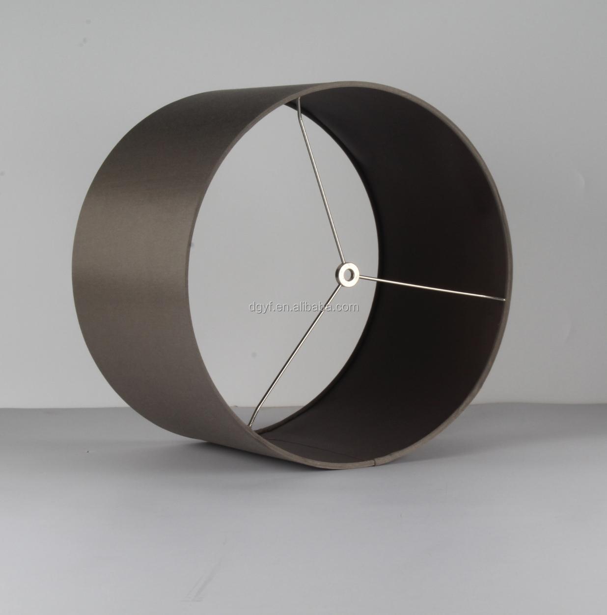 Bett dekoration schwarz stoff pvc handwerk 10 zoll trommel lampe ...