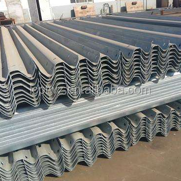 Alibaba Gold Supplier Q235 W and Three beam steel guardrail with H or C Post
